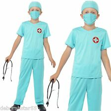 Boys Kids Doctor Surgeon Fancy Dress Costume & Stethoscope World Book Day Outfit