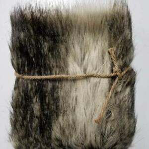 Blank Gray Wolf Fur Photo Prop Newborn Nest Photography Blanket FREE SHIPPING!!!