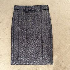 Class Roberto Cavalli Gray High Waisted Pencil Skirt Size 38 Or 2-4 US