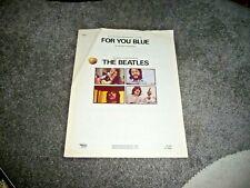 BEATLES FOR YOU BLUE ORIGINAL US 1970 SHEET MUSIC