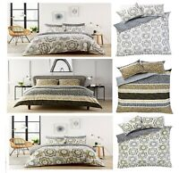 Luxuries Design ZARA, PEONY Printed Reversible Duvet Cover + Pillow Case Bed Set