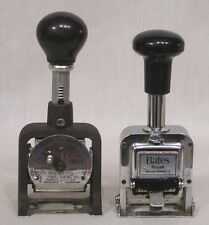 "Vintage LOT TWO Bates Price Stampers Numbering Machines Royall Plus - 4"" Tall"