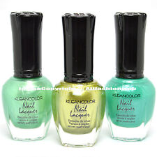 3 Kleancolor Nail Polish Forest Fairy , Jazz Olive , Teal Color Lacquer 3SET46
