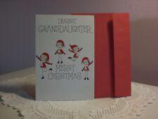 For Arts Sake - Christmas Card - Dearest Granddaughter Merry Christmas
