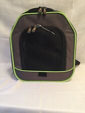 Pet Carrier Sling K&H Classy Go Cat Dog Brown/Lime Green 10x12x12 Front Carrier