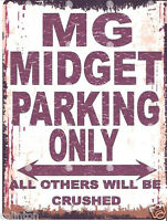 MG MIDGET PARKING METAL SIGN RUSTIC VINTAGE STYLE 8x10in 20x25cm garage