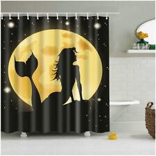 Bathroom Shower Curtain Mermaid 3D Print Polyester Bath Curtains Set 12pcs Hooks