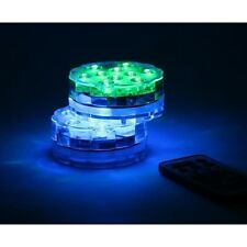 10-LED Color-Changing Wireless Waterproof Lights with Remote Controls, Pack of