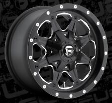 16x8 Boost D534 6x5.5 ET20 Black Milled Brand New Wheels (set 4)