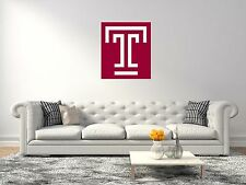 Temple Owls NCAA Football Sports Wall Decal Vinyl Sticker For Room Home