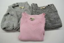 Lot of 3 Faded Glory Women's Large 12-14 Long Sleeve Fall/Winter Wear Sweaters