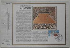 Document philatélique CEF Soie 460 S 1er jour 1978 Stade Roland Garros