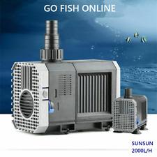 Sunsun CHJ-2000 Submersible Pump 2000L/H Aquarium Sump, Pond, Fountain Au plug