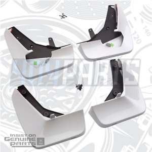 2021 Cadillac Escalade Crystal White Tricoat Front & Rear Splash Guards