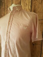 Mens dolce Gabbana Shirt Pink Stripe Small 40 Chest Vgc Designer Short Sleeve