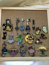 Disney Fantasy Kingdom Hearts Pin Lot Keyblades, Worlds, Etc