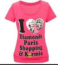 Muppets Miss Piggy 100% Organic Cotton Pink Women's Diamonds Small disney