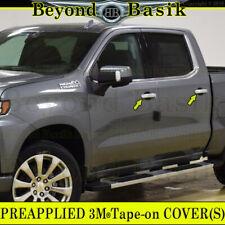 2019 Chevy Silverado GMC Sierra 1500 CHROME 4 Door Handle Covers w/4 Smtkeyholes