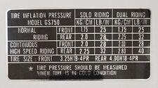 Suzuki Gs750 B Reifendruck Aufkleber