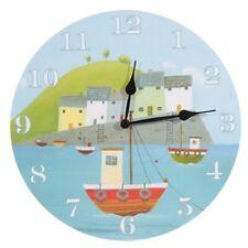 Bilderuhr Hafen Uhr Wanduhr harbour Hafenszene Idyll Landschaft Bild