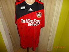 """Bayer 04 LEVERKUSEN MAGLIA ADIDAS 2008/09 """"Tel poiché fax"""" + MANO FIRMATI TG. XXL Nuovo"""