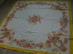 "Vintage Horrockses Square Tablecloth 48"" x 48"""