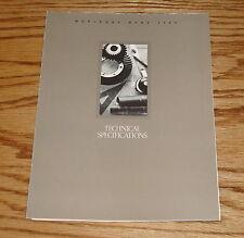 Original 1989 Mercedes Benz Technical Specifications Foldout Sales Brochure 89