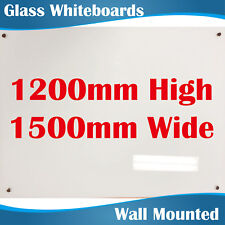 Magnetic Glass Whiteboard Whiteboards White Board 1200mm highx1500mm wide