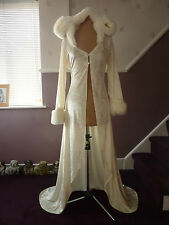 Wedding coat / cape with hood white or ivory for over wedding dress sizes 8 - 24