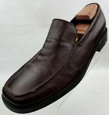 Michael Shannon Loafers Mens Brown Leather Platinum Collection Shoes Size 11