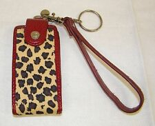 Liz Claiborne Leopard Print Flip Up Case For iPod Nano - Wrist Strap & Key Chain