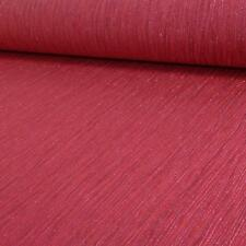 Crystal Plain Pattern Textured Stripe Glitter Motif Vinyl Wallpaper Red Seconds