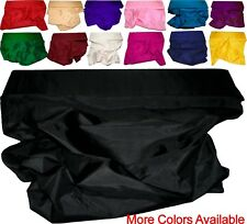100% Pure Silk Hand Loomed Fabric Yardage from India Solid Plain Various Colours