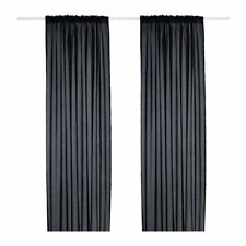 Black Curtains And Blinds