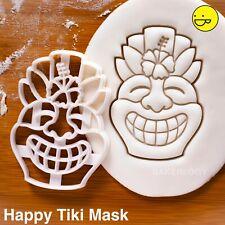 Happy Tiki Mask cookie cutter  Maori Luau Hawaiian resort Polynesian mythology