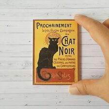 Black Cat Chat Noir Dollhouse Miniature Picture Handmade Framed Poster Art