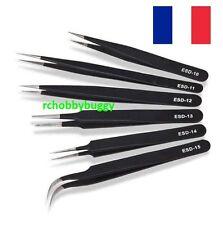 6 Pinces de précision antistatique, RC, Réparation Bijoux,Montre,Maquette .....
