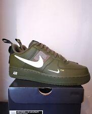 Nike Air Force 1 LV8 Utility TM - Olive Green Black Off White 9.5 UK