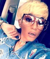 "Sunglasses Women OVERSIZED AVIATOR  ""EMMA""  XXL Flat Top Square Shadz GAFAS"