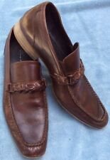 Kenneth Cole New York Mens Leather Victory Speech Moc Toe Loafers Shoes Size 10M