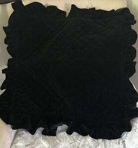 VERY RARE RALPH LAUREN HOME BLACK VELVET HEAVY WEIGHT EURO SHAM(1)