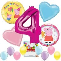 Peppa Pig Party Supplies Balloon Decoration Bundle for 4th Birthday