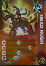 Head Rush Skylanders Trap Team Stat Card Only!