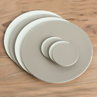 Set of 4 Placemats & Coasters Round Taupe Cream Dining Table Place Setting Mats