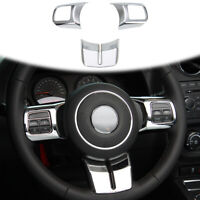 Car Steering Wheel Trim Cover for Jeep Wrangler JK 11-17/Grand Cherokee/Compass