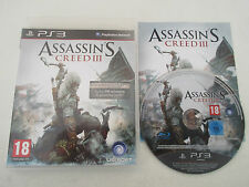 ASSASSIN'S CREED III (3) - SONY PLAYSTATION 3 - JEU PS3 COMPLET