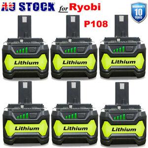 6.0Ah 18V Battery For Ryobi ONE+ PLUS Lithium-ion P108 P105 P104 P102 P107 Tools