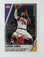 2018-19 Panini Sticker Collection Lebron James #283, Cleveland Cavaliers, Lakers