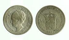 pcc1784_16) NETHERLANDS - OLANDA   WILHELMINA I  1/2 Gulden KM# 160