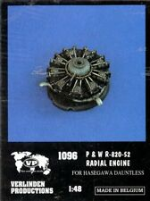 Verlinden 1:48 P&W R-820-52 Radial Engine for Hasegawa Dauntless -Resin PE #1096